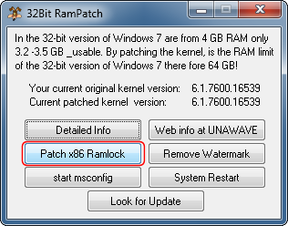 Ram Kernel Patch