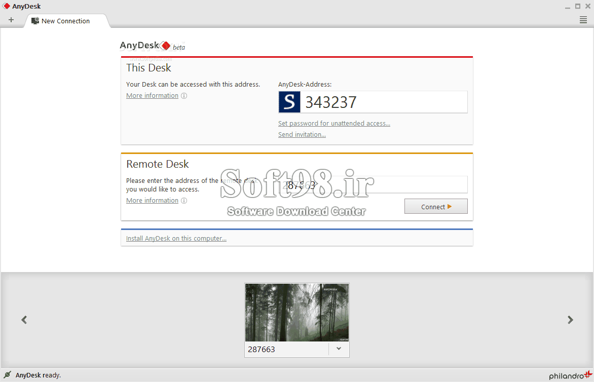 AnyDesk 6.0.6 Win/Mac/Linux Windows Remote Control Software