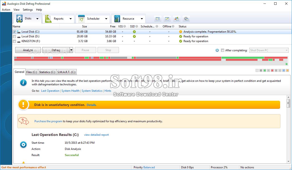 Auslogics Disk Defrag Pro/Ultimate 9.5.0 + Portable Hard Drive Integration