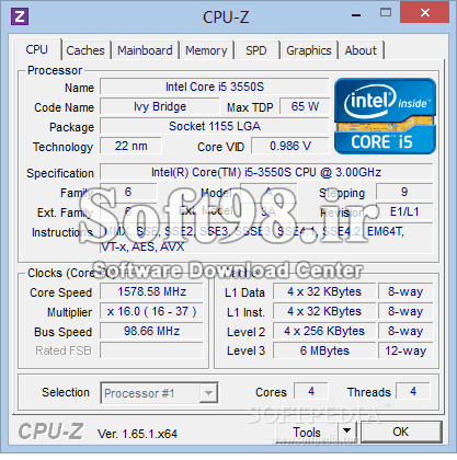 CPU-Z 1.92.2 + Portable View CPU Information