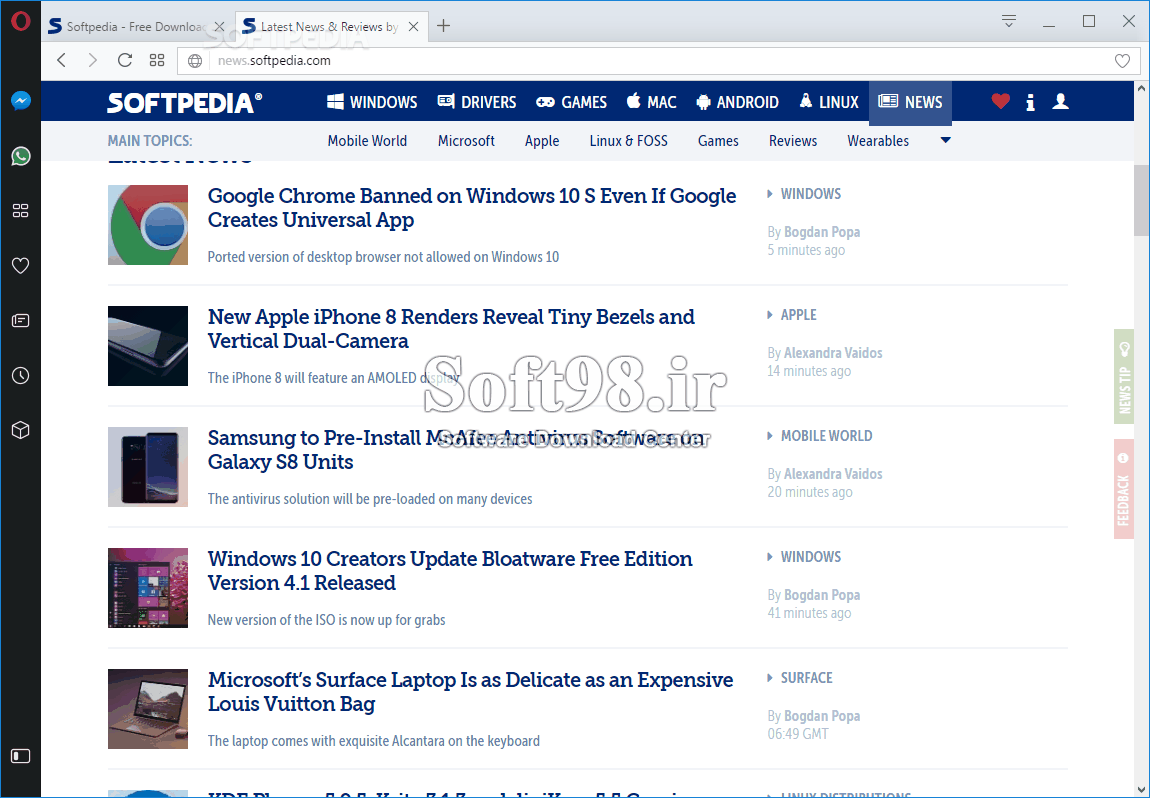 Opera 63.0.3368.94 Opera Browser Win/Mac/Linux + GX Gaming Browser