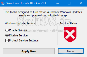 Windows Update Blocker 1.5 Quick Control Of The Windows Update Section